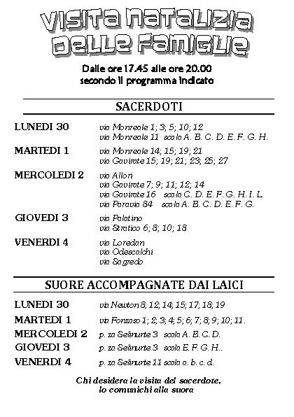 Pagina Calendario Settimanale.Calendario Settimanale Benedizioni Pagina 3